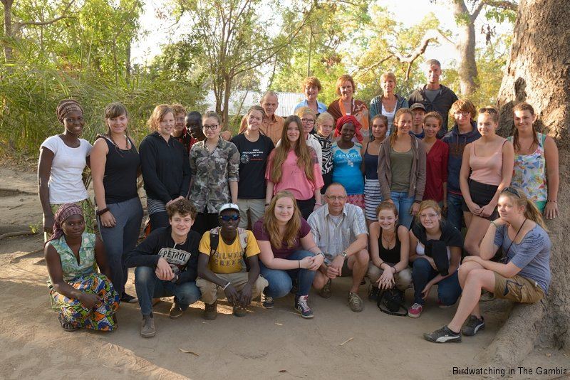 Burama with students and colleagues of Dutch school Apeldoorn
