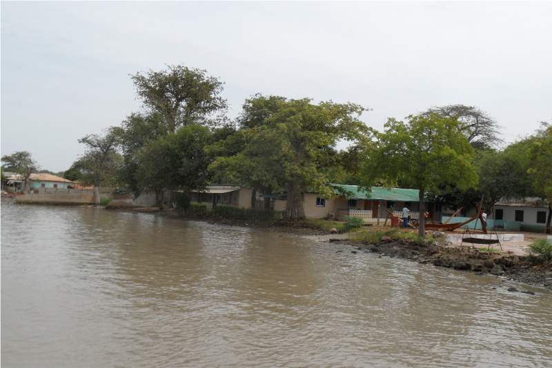 Tendaba from the river